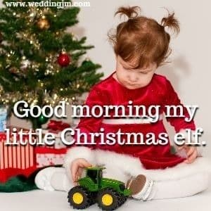Good morning my little Christmas elf.