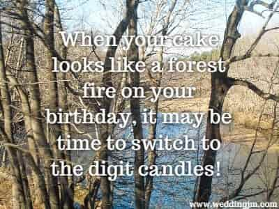 When your cake looks like a forest fire on  			your birthday, it may be time to switch to the digit candles!